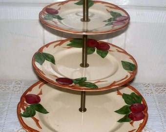 Franciscan California ALL Original 3 - Tier Tidbit Tray in Apple pattern