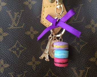 Delicious Macaron Purse Charm, Key Ring