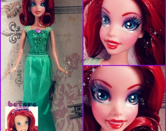 Custom Ariel Sparkle Princess doll OOAK