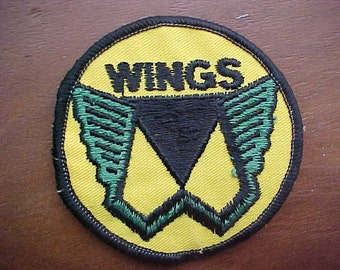 Vintage 1976 WINGS Patch Linda Paul McCartney Wings Over America Tour Logo Mint Condition A Scarce Rock n' Roll Collectible Must Be Sewn On