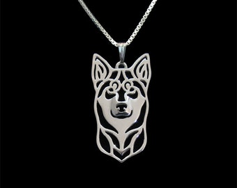 Lapponian Herder (Lapinporokoira) - sterling silver pendant and necklace