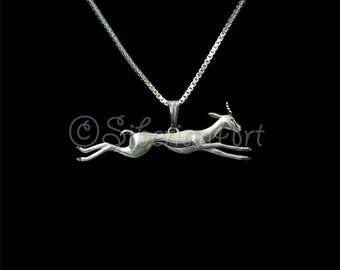 Running Gazelle necklace - sterling silver