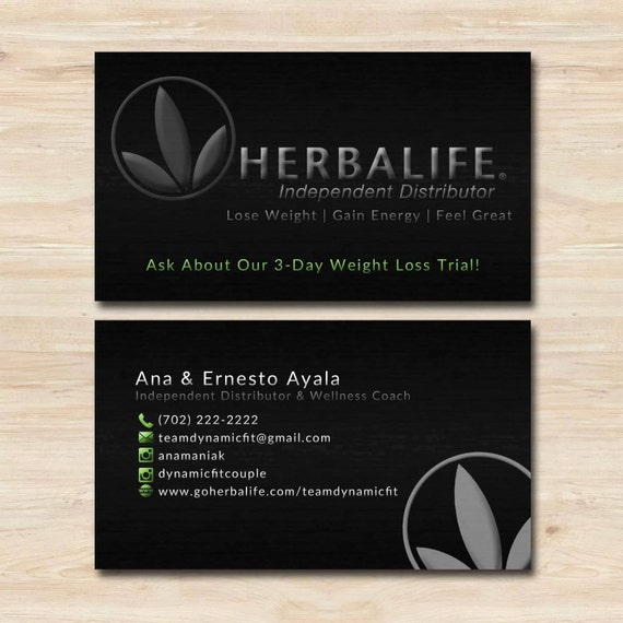 Herbalife business card by wackyjacquisdesigns on etsy for Herbalife business card