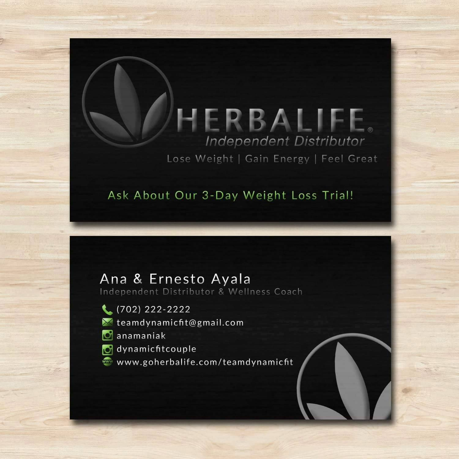Herbalife Business Card by WackyJacquisDesigns on Etsy