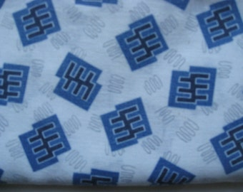 Feedsack Fabric from the 1930's 100% Vintage Feedsack Feed Sack Scrap Cotton Blue and White