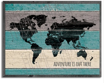 ADVENTURE Is Out There: 8x10 Digital File Rustic Farmhouse Style Decor, Industrial Chic, Vintage Decor, Cottage Craftman