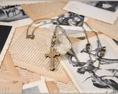 Brass Cross Pocket Knife Necklace