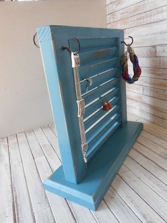 Jewelry organizer jewelry stand earring stand repurposed for Repurposed jewelry holder