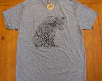 Men's T-Shirt, Guys Shirts, Animal Lover Tees, Gray T-Shirt, Unisex, Short Sleeve T-Shirt, Art Tees, Hipster T-Shirts, Men's Clothing