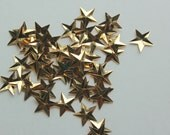 Gold Star Sequins - Lot of 60 - Large Star Sequins - Decorative Use Only - Center Hole Sequins - 15mm
