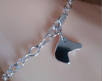 Horse Charm Bracelet, Horse Bracelet, Dainty Bracelet, Sterling Silver Horse Charm, Horse Jewelry, Gift for her