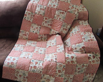 LOVE LETTERS Patchwork Throw Quilt - 58 in x 69 in