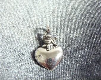 Sterling Silver Angel Heart Pendant  P31
