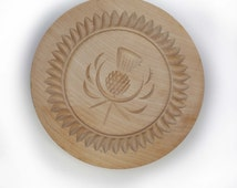 Grandma's Cookies Holiday Shortbread Cookie Press Mold Design Tart Pie Decor Hand Carved Wooden Stamp Made in SCOTLAND for Baking & Gifts