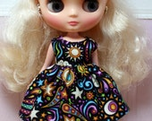 SALE..BLYTHE Middie doll Its my party dress - night sky