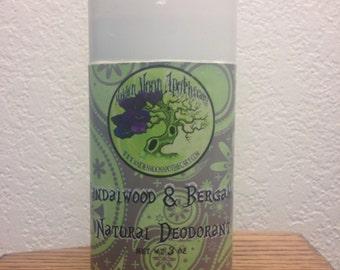 All natural Sandalwood & Bergamot Aluminum FREE Deodorant