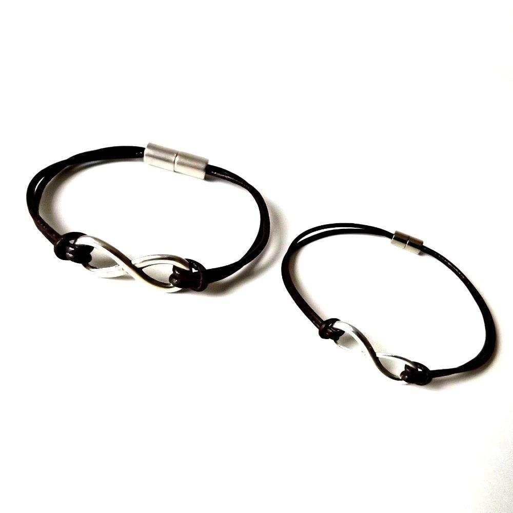 Infinity Leather Bracelets Infinity Couple Bracelets Couples
