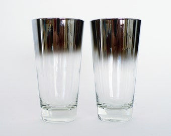 Vintage Glass Ombre Tumblers / Set of Two