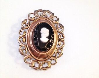 Vintage Cameo Black Diamond Downton Abbey Jewelry