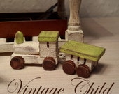 Wooden toy train, scale 1:12