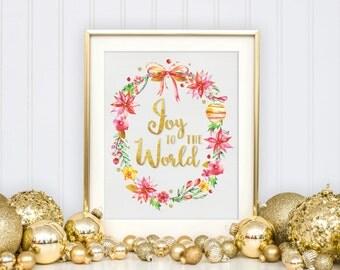 Christmas Wreath Print - Christmas Decor - Christmas Printable - Wall Art Print - Wall Art Quote - Christmas Wall Art - Christmas Decoration