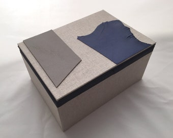 One of a kind, handcrafted, Double Open Box, Magic box
