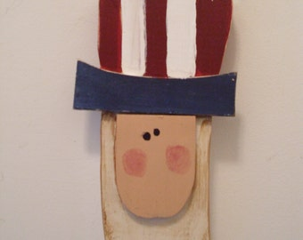 Uncle sam patriotic americana wall hanging