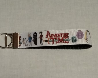 Handcrafted Adventure Time Key Chain Wristlet NEW