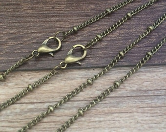 10pcs  18Inch 2mmx3mm Antique Bronze  Necklace Chain For Jewelry making