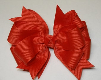Shades of Fall Solid 4 inch Grosgrain U Pick Color Simple Layered Hair Bow