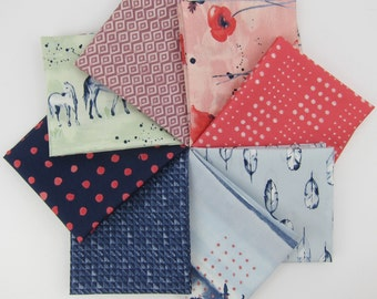 Wanderlust Fat Quarter Bundle - Monaluna - 8 FQs - Organic Cotton