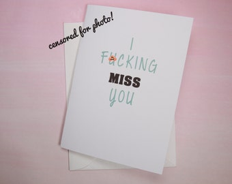 "Funny Missing You Card, Funny Card, Thinking of You Card - ""ViceVersa"""