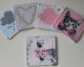 Grey make up wipes facial wipes with bamboo terry cloth