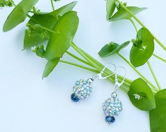 Princess Aurora collection earrings, dramatic drop earrings, sterling silver ear wires, earrings, Disney, Disney Princess