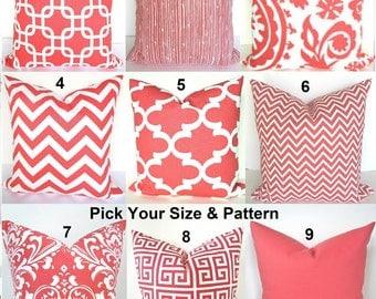 coral pillows coral pillow coral throw pillows coral pillow covers coral decorative throw pillow salmon 16 - Coral Decorative Pillows