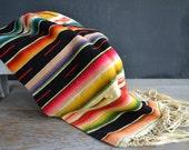 Vintage Mexican Serape Saltillo Rug ~ Mexican Blanket ~ Soutwest Style ~ Vintage Mexican Souvenir