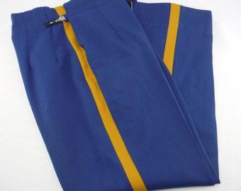 Vintage men's royal blue marching band uniform pants