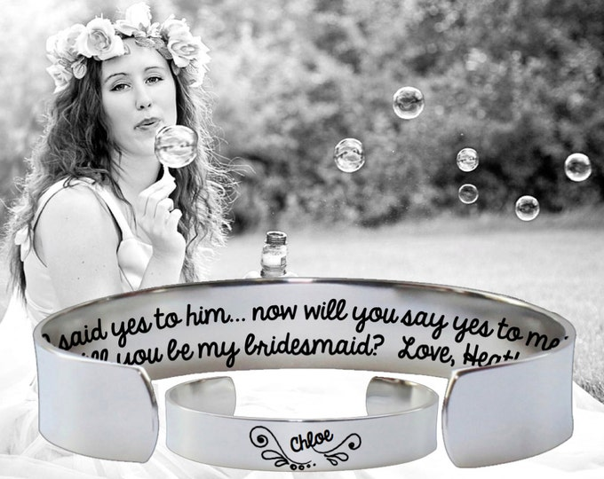Bridesmaid Gift | Maid of Honor | Maid of Honor Gift | Bridesmaid | Bridesmaid Gifts | I said yes to | I'd like to ask you | Korena Loves