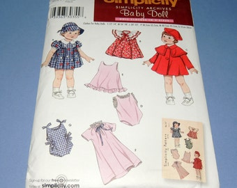 Simplicity Baby Doll Patterns from the Archives Uncut