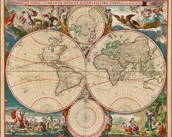 World map poster antique world maps old world map ancient prints world map print old maps world globe ancient map old sciox Choice Image