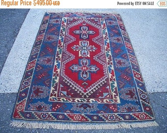 SUMMER CLEARANCE 1980s Hand-Knotted Dosemealti Turkish Rug (3226)