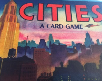 CITIES A Card Game, 1940's, VINTAGE old, Game of Cities an All Fair Game by E. E. Fairchild Corp. for sale by Estate ReSale & ReDesign