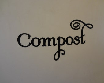 2 Compost Decal Label Organic Farm Batch Composting Farming Vinyl Sticker Bucket Container Trash Bin Can Garden Gardener Green Thumb Gift