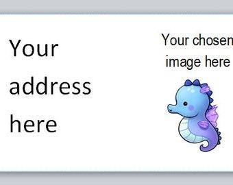 mini return address stickers - 65 per A4 sheet