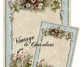 Digital Shabby Christmas Collage, Vintage Pink Floral Decoupage, Shabby Chic Wallpaper, Vintage Scrapbook Supplies. No. ch.221