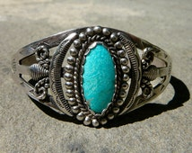 Native American Jewelry, Vintage Turquoise, Native American Silver Jewelry, Native American Jewelry Vintage, Silver and Turquoise Cuffs