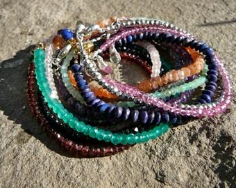 Stacking Bracelet, Layering Bracelet, Stacking Bracelets, Delicate Bracelet, Stack Bracelet, Gemstone Bracelet, Stackable Bracelet