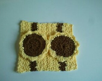 Wash Cloth handmade with 2 large spa scrubbies/make-up removers using 100% Cotton yarn Ready To Ship