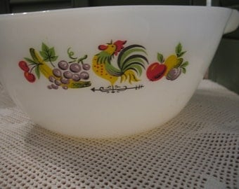 Arcopal pyrex Rooster kitchen mixing bowl mixing