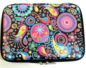Funky Bright Travel Beading Zip Up Case & Supplies